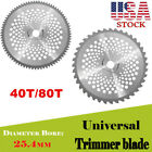 10 Inch 40T 80T Teeth Carbide Tip Blade For Brush Cutter Trimmer US