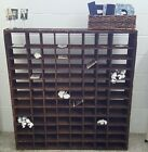 Antique Postal 96 Pigeon Hole Cabinet Cubby Shelf Vintage Farmhouse Style