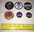 Lot of 6 Assorted Pinback Buttons Romney Ryan Radio City Roll Tide