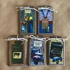 5 Handcrafted Wood COUNTRY Hang Tags/Ornaments - FARM LIVING IS THE LIFE FOR ME