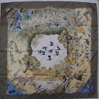 """Auth HERMES """"Africa"""" by Robert Dallet Silk Scarf 6112"""
