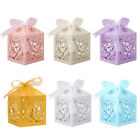 25 50 100Pcs Hollow Love Heart Favor Ribbon Gift Box Candy Boxes Wedding Party