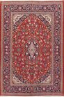 Grand Vegetable Dye Traditional Floral 4x7 Wool Kashan Persian Oriental Area Rug