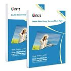 Double Sided Glossy Photo Paper 200 Sheets Uinkit 85x11 Inches 95Mil 200G