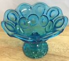 Stars Pedestal Candy Dish Bowl Scalloped