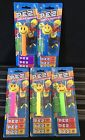 PEZ ~ SMILEY FACE w/ Neon Stems Dispenser Set Of 5 ~ On The Card {A}