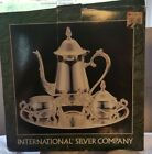 BRAND NEW INTERNATIONAL SILVER COMPANY SILVERPLATED 4 PIECE COFFEE SET