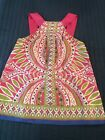 BANANA REPUBLIC 100 Silk Hot Pink Green Blue and White Summer Flowing Top XS