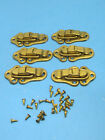 STANLEY Brass Cabinet Trunks Chest Latch  Lot Of 6