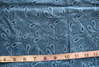 2 3 yd x 41 Cotton Fabric Country Blue Paisley Commas  Off White Dots