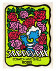 Vintage MELLO SMELLO Scatch and Smell Sniff Stickers ROSES