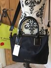 Ted Baker Black Nylon Tote Bag With Removable Strap Crossbody  NEW AVIAA