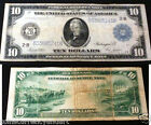 BLUE SEAL WHITE MELLON 1914 NEW YORK 10 LARGE SIZE Federal Reserve Note