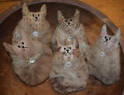 Primitive Roly Poly Cats Set of 5 Bowl Fillers Cupboard Tucks Kittens Handmade