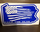 Back The Blue Police State Of Pennsylvania Decal USA Flag Line Lives Matter 6