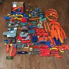 HOT WHEELS MATCHBOX LOT TRACK PIECES loops BOOSTER curves connectors + MORE
