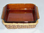 Anchor Hocking Fire King Baking Dish Brown Dish with Basket 1.5 Qt #435