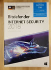 BITDEFENDER INTERNET SECURITY 2018 3 PC 2 Years Retail SEALED BOX Ships 3 Day