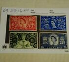 Great Britain Stamp Set 313 to 316 Mint Never Hinged Condition