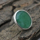 925 STERLING SILVER EMERALD GEMSTONE MAY BIRTHSTONE BIG MENS RING 6 TO 12 JEWELR