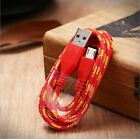 Red Charging Data Sync Cable Micro USB 20 For Galaxy Samsung Android LG HTC