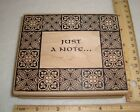Just A Note Large Wood Mounted Rubber Stamp NEW