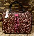 NWT VICTORIA SECET PINK WILD LEOPARD TRAVEL HANGING BAG