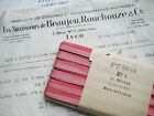 Vintage French  Pinky/Red Ombre Rayon Ribbon  Flowers  1/4