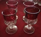 Indiana glass thumbprint and swirl patterns all ruby red and beautiful kgs crown