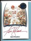 2007 Press Pass Legends Ken Stabler Red Ink Autograph Alabama Crimson Tide
