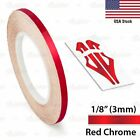 18 Roll Vinyl Pinstriping Pin Stripe Solid Line Car Tape Decal Stickers 3mm