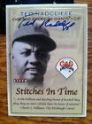 TED DOUBLE DUTY RADCLIFFE Signed 2001 Fleer Baseball Card Negro Leagues AUTO