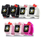 Cute Hello Kitty Case For Apple Watch Series 5 4 3 2 Silicone Protect Cover+Band