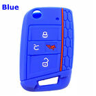 4-buttons Silicone Key Fob Cover Case Remote For Vw 2016- Polo Golf 7 Mk7 Tiguan