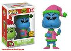 FUNKO POP 2017 BOOKS DR. SEUSS THE GRINCH SANTA GRINCH #12 CHASE FIGURE In Stock