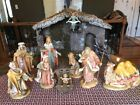 LARGE Vtg Nativity Italy LARGE 12 Scale Fontanini Figures Only