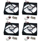 4x 120mm PC Case Cooling Fan Chassis Cooler IDE 3 4 Pins Magnetic Enermax