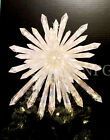 14 Lg Sparkling Crystal look Nativity Star Xmas Tree Topper 50 Lights Twinkles