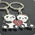 1Pair Panda Christmas Day Gift Couple Lover Gift Car Keyring Keyfob Keychain