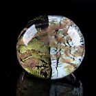 QVC Bold Round Multi colored Murano Glass Ring Size 7 7998