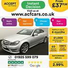 2012 SILVER MERCEDES C250 21 CDI AMG SPORT DIESEL COUPE CAR FINANCE FR 37 PW