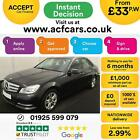 2012 BLACK MERCEDES C200 21 CDI EXECUTIVE SE AUTO SALOON CAR FINANCE FR 33 PW
