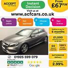 2016 GREY MERCEDES A180 15 AMG LINE PREMIUM PLUS AUTO CAR FINANCE FROM 67 PW