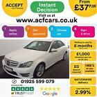 2013 WHITE MERCEDES C180 16 AMG SPORT SALOON AUTO CAR FINANCE FROM 37 P WK