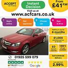 2011 RED MERCEDES C250 18 CGI AMG SPORT AUTO COUPE CAR FINANCE FROM 41 P WK