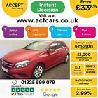 2013 RED MERCEDES A180 16 BLUEEFFICIENCY SE PETROL MANUAL CAR FINANCE FR 33 PW