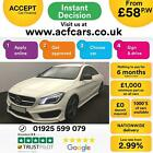 2015 WHITE MERCEDES CLA220 21 CDI AMG SPORT DIESEL COUPE CAR FINANCE FR 58 PW