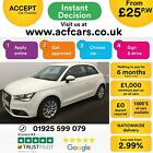 2012 WHITE AUDI A1 16 TDI SPORT DIESEL MANUAL 3DR CAR FINANCE FROM 25 PW