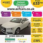 2013 WHITE AUDI A3 20 TDI 150 SPORT DIESEL AUTO 3DR CAR FINANCE FR 33 PW