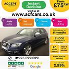 2013 BLUE AUDI SQ5 30 BITDI 313 QUATTRO DIESEL AUTO CAR FINANCE FR 75 PW